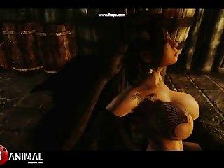 Skyrim Dragon Whore Like Monster 3 Naughty Machinima 1
